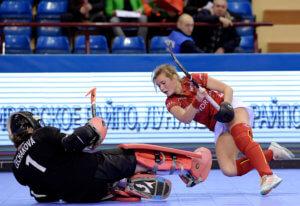 MINSK - EuroHockey Indoor Championship 2020 (W) Czech Republic v Belgium (Pool A) Picture: Barbora Cechakova (GK)  WORLDSPORTPICS COPYRIGHT FRANK UIJLENBROEK
