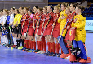 MINSK - EuroHockey Indoor Championship 2020 (W) Austria v Belgium (Pool C) Picture: Line Up WORLDSPORTPICS COPYRIGHT FRANK UIJLENBROEK