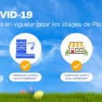COVID 19 – Règles en vigueur pour les stages de Pâques