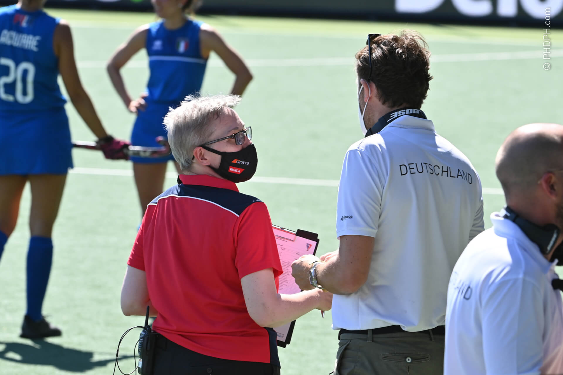 AMSTELVEEN, THE NETHERLANDS - JUNE 9 :  pictured during the Women's Euro Hockey championship 2021 between Germany v Italy on June 09, 2021 in Amstelveen, The Netherlands, 09/06/2021  Photo by PHDPH