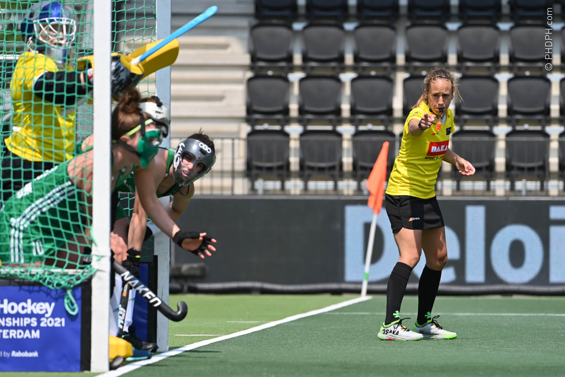 AMSTELVEEN, THE NETHERLANDS - JUNE 9 :  pictured during the Women's Euro Hockey championship 2021 between Spain v Ireland on June 09, 2021 in Amstelveen, The Netherlands, 09/06/2021  Photo by PHDPH