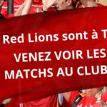 TOKYO 2020 – Encourager les Red Lions tous ensemble au club ! + GAGNEZ UN EVENT !