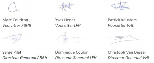 Signatures secrétaires généraux